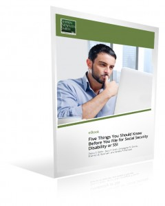 Ebook cover - 5 Things you should know before you file for social security disability or SSI